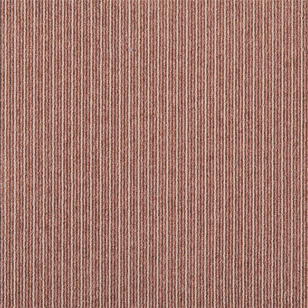 Stripe Style Office Carpet Tiles Tufted Loop Pile For Floor Protection