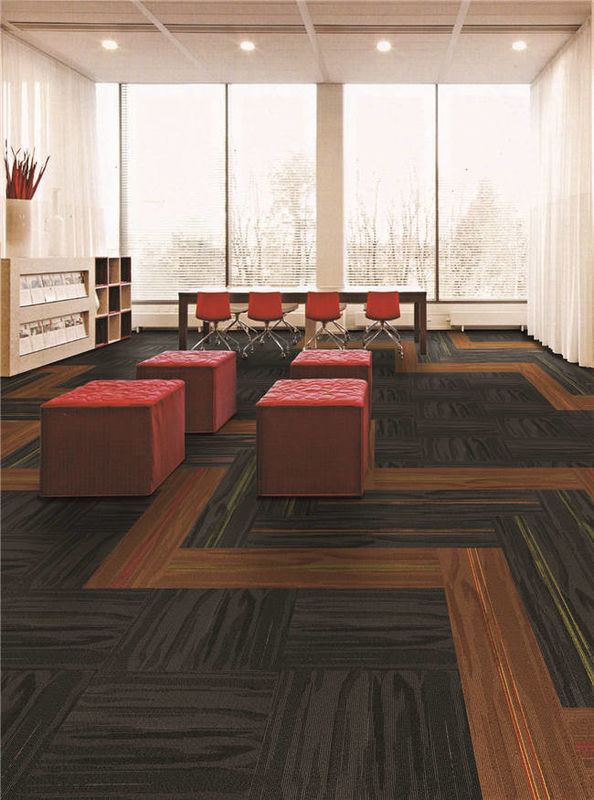 100% Pp Material Eco Friendly Carpet Tiles Modern Design For Project